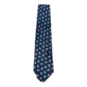Men's Christian Dior blue & purple geometric tie